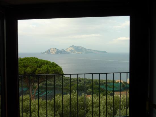 """Agriturismo """"Il Giardino di Vigliano"""": Capri through the window"""