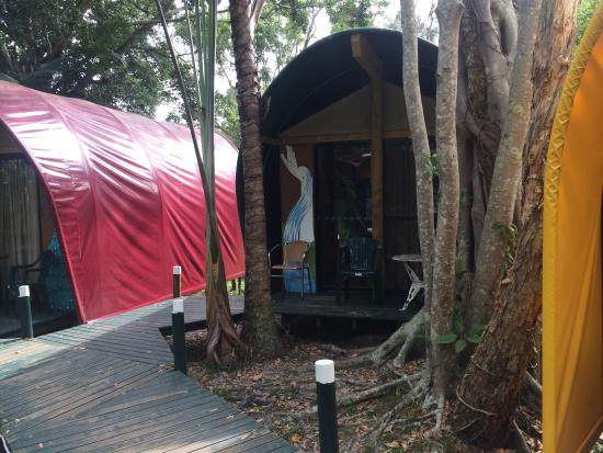 The Arts Factory Backpackers Lodge: Tripadvisor can't handle panoramic I guess :(