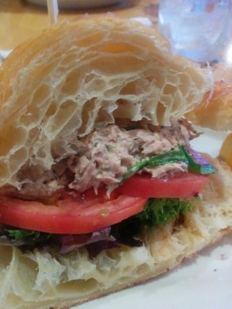 Five Loaves Cafe: Tuna minus cheese and onion.