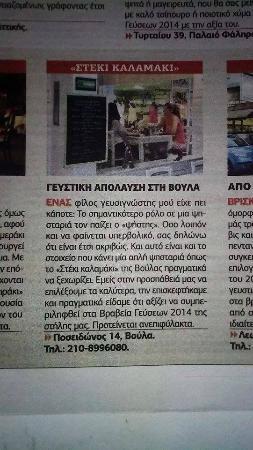 Steki Kalamaki : Κριτική σε εφημερίδα