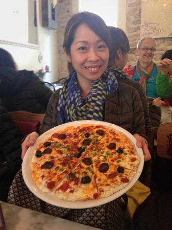 Cannelle Aurore et Michel : Pizza maison
