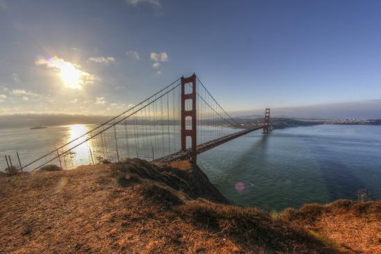 Presidio of San Francisco: vue depuis le haut du parc