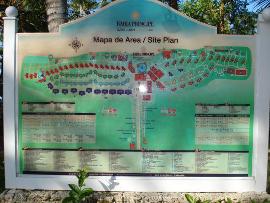 Grand Bahia Principe San Juan Map