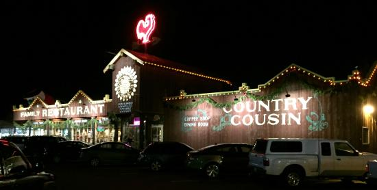 Country Cousin at Night - Listen for the Rooster when you enter!