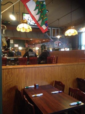 Okra's Cajun Creole : Entrance to main dining room includes bar.