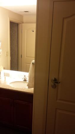 Residence Inn Memphis Downtown : Bathroom sink, separate from the toilet