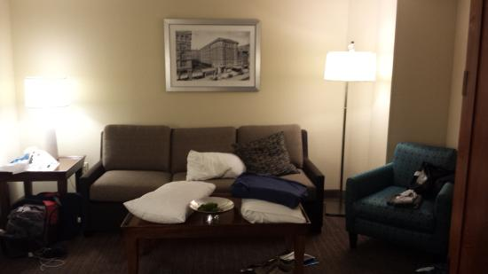 Residence Inn Memphis Downtown : Sofa living room