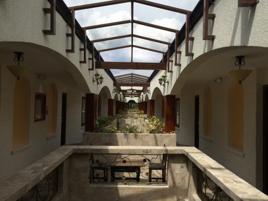 Hosteria Rincon de Puembo: The new wing's inner corridor.