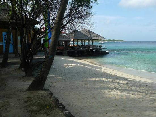 Basil's Bar - Mustique: Basil's from the beach