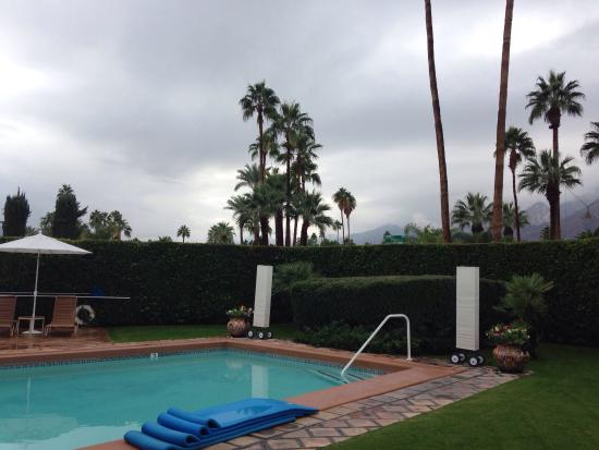 The Hacienda at Warm Sands : The grounds at Hacienda at Warm Sands on 3/12/2014.  Note the rain clouds.  It was unheard of😄