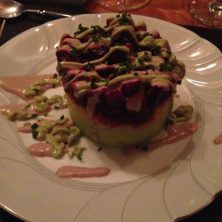 Casa SaltShaker : Roasted beet causa