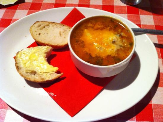 Pizza Stop: Minestrone soup, great in the winter and very filling