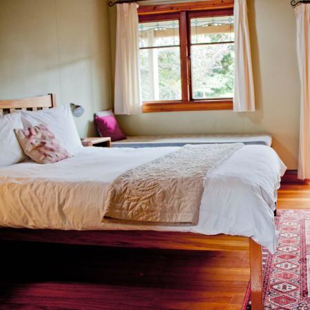 The Church Accommodation: Enjoy the sunlight through the reclaimed windows of your Garden Studio