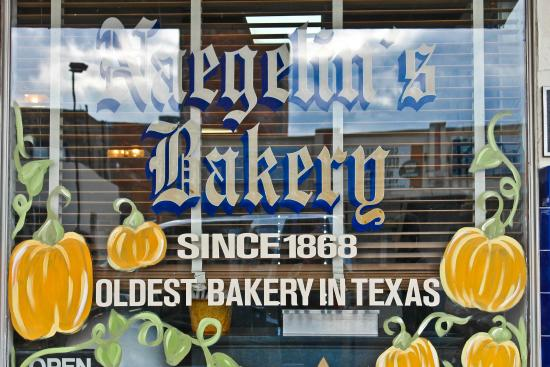 Naegelin's Bakery: sign on front entrance