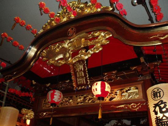 Kazuno Michi-no-Eki: 祭り展示室内