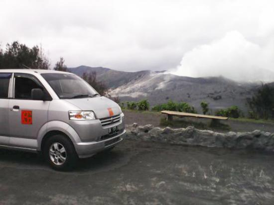 """Bali Go Beyond Tours - Day Tours: View to Mount Bromo from Hotel """" Cafe Lava """" Cemoro Lawang"""