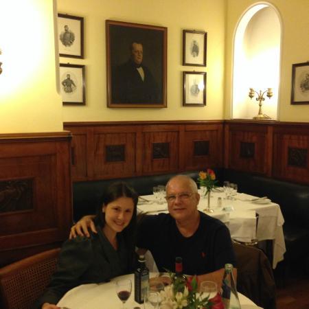 Ristorante Massimo d' Azeglio: Eu e minha filha, durante o jantar.