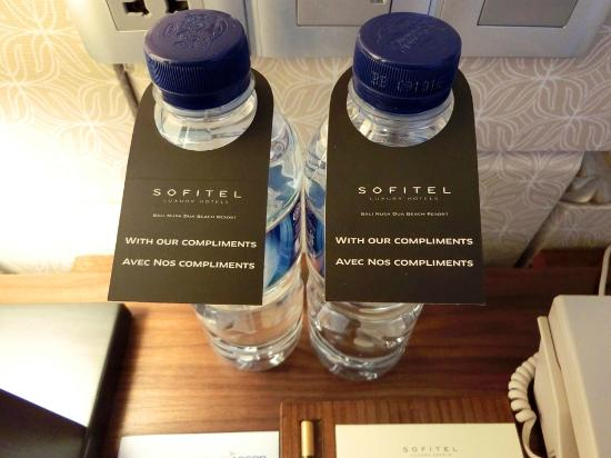 Complimentary Bottled Water Replenished Daily Picture