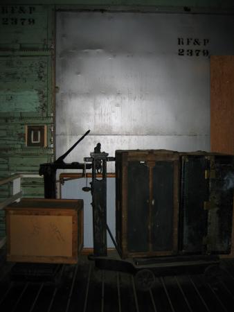 Wilmington Railroad Museum: inside a rail car