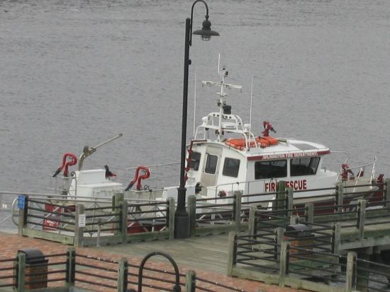Cape Fear River: the fire rescue vessel