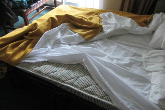 Travelodge Hotel Belleville: Mattress without cover