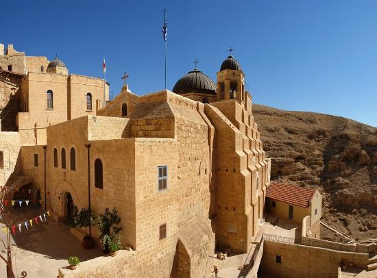 Mar Saba Monastery: Mar Saba - ingresso e  bastione orientale