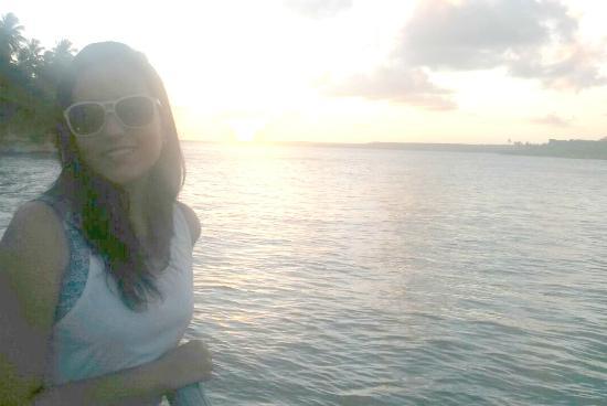 Hotel Marinas: Por do sol na creperia