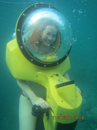 Two Seasons Coron Island Resort & Spa: One of a kind  Hydrobob such an awesome underwater adventure ��