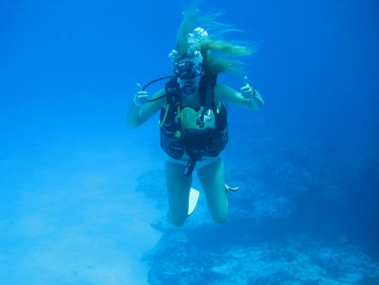 Two thumbs up picture of deep blue scuba diving cozumel - Dive deep blue ...