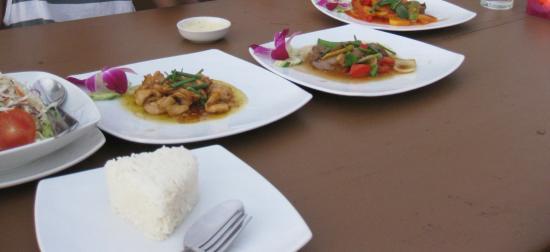 some thai food