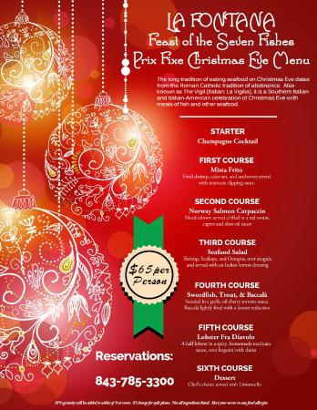 """La Fontana Waterfront Grill & Pizzeria: Our """"Feast of the Seven Fishes"""" Christmas Eve Menu"""