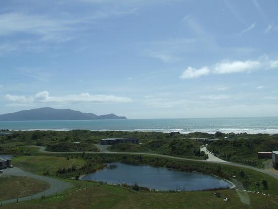 View as I came in to land- Atahuri is in a secluded area just a stone's throw from the beach