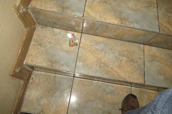Regency Inn: Discarded lottery ticket in stair well