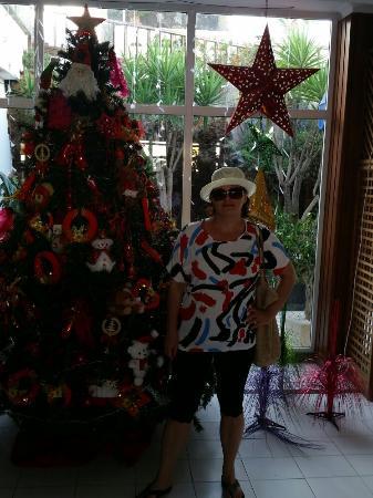 Plaza Azul: Christmas tree in the lobby :)