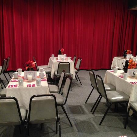 First Avenue Playhouse Dessert Theatre: Cozy venue. Table seating. Coffee, cake, soda included  with Performance