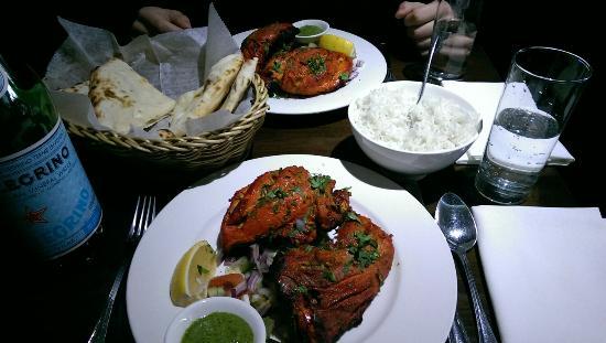 Tandoori Chicken und Naan