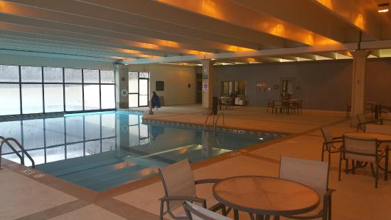 Pool - indoor / outdoor - Picture of Hilton Kansas City Airport ...