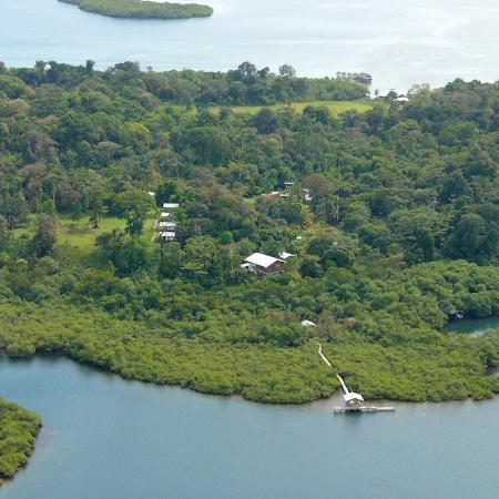 Tranquilo Bay Eco Adventure Lodge: Aerial view of the lodge facilities