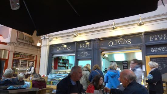 in the heart of Grainger Market  Picture of Olivers Cafe Bistro