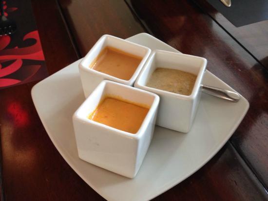 Cafe Plaza Grande : Variedad de salsas de ají