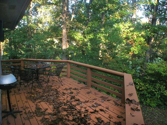 The Greens II Resort at Bella Vista Village: rear deck