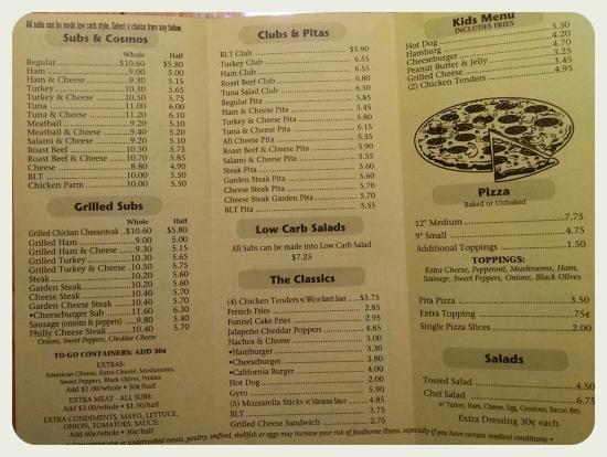 Danville Sub Shop: new menu
