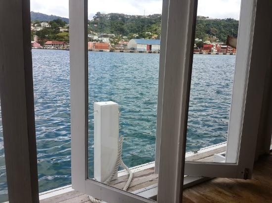 Sails Restaurant & Bar: View toward Port Louis