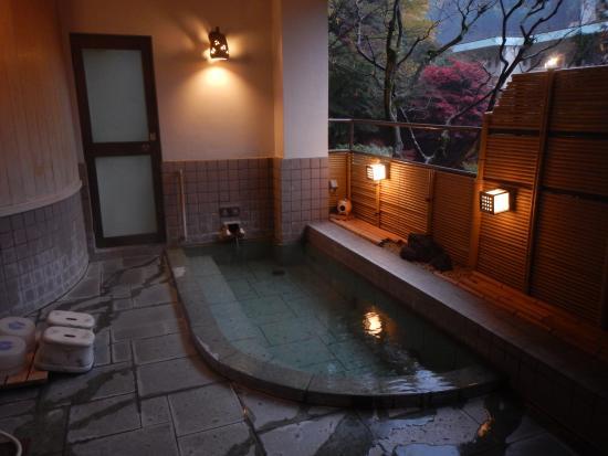 Uenoya : 貸切露天風呂「藤木」