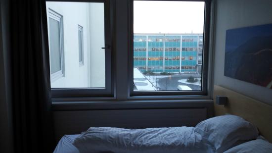 Icelandair Hotel Reykjavik Natura: Room 341 is in corner with two other rooms and the windows are facing each other. No privacy at