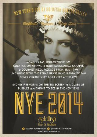 Goldfish Bar & Kitchen: New Year's Eve Party anyone?