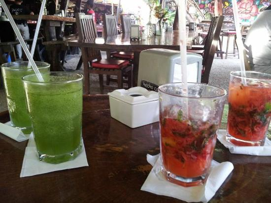 My Drinks!  (Strawberry Basil Mojito & Mayan Mint)