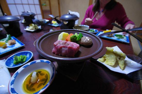 Yudanaka Seifuso : beef dish as part of our special meal