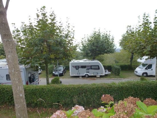 Camping Bungalows Igueldo San Sebastian : Pitches just adequate - some with nice views