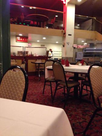 Chau Chow City Restaurant : Take a close look at the chairs and walls. You can see dirty marks every where. It's is not good